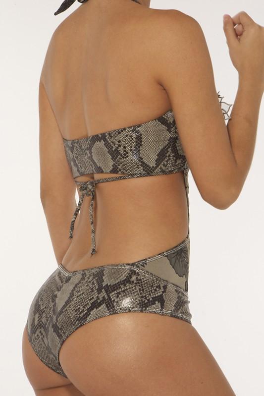 Paradizia Siren In Love Black Pearl Bandeau Bikini achterkant