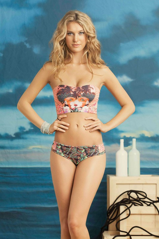 Maaji Flamingo Harbour Bandeau Bikini Voorkant